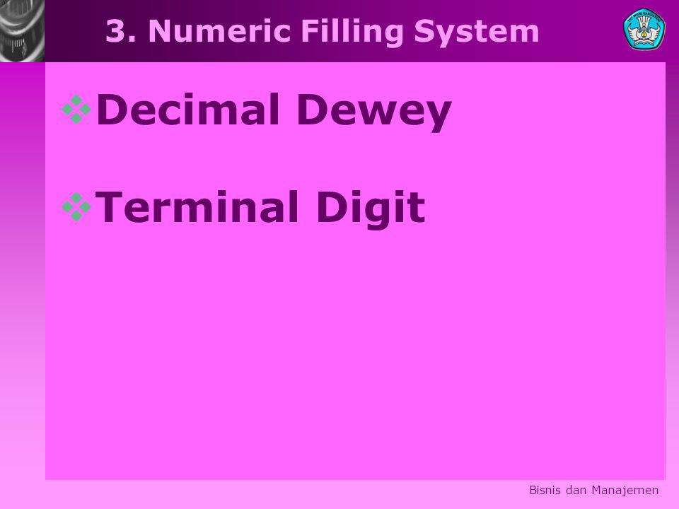 3. Numeric Filling System