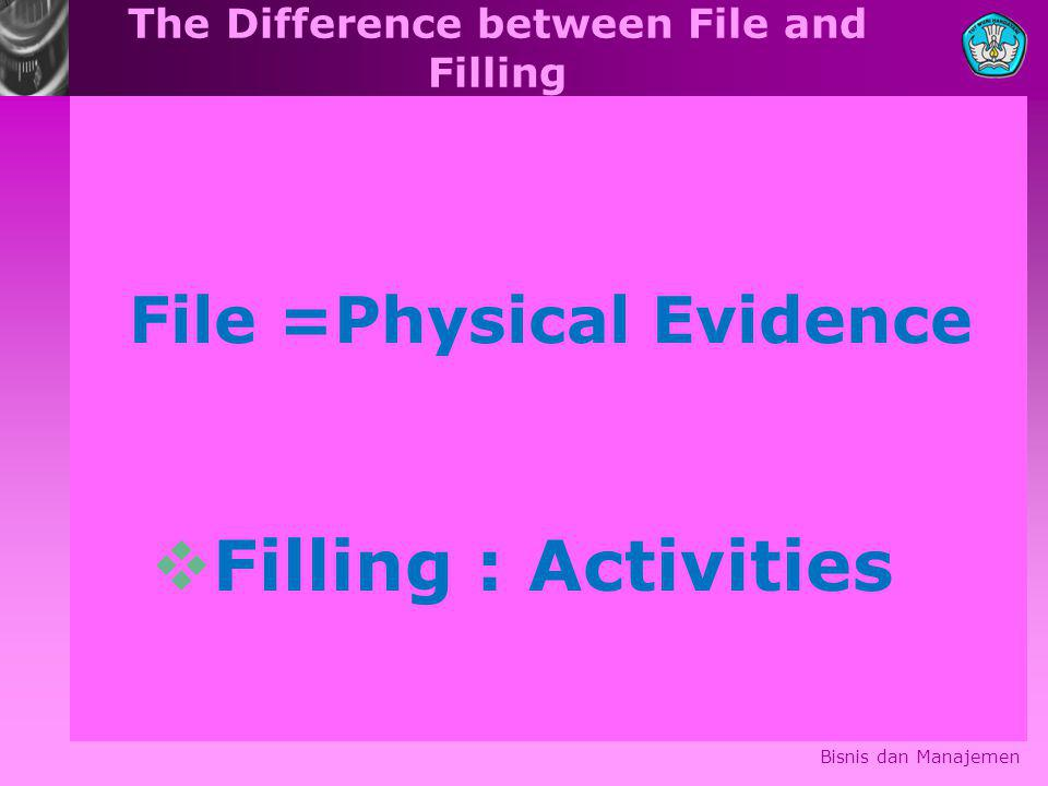 The Difference between File and Filling