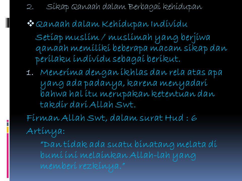 Pendidikan Agama Islam Tema Qanaah Untuk Smp Mts Kelas Ix
