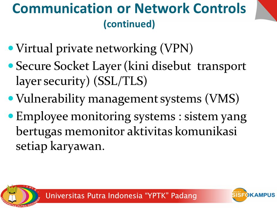 Communication or Network Controls (continued)