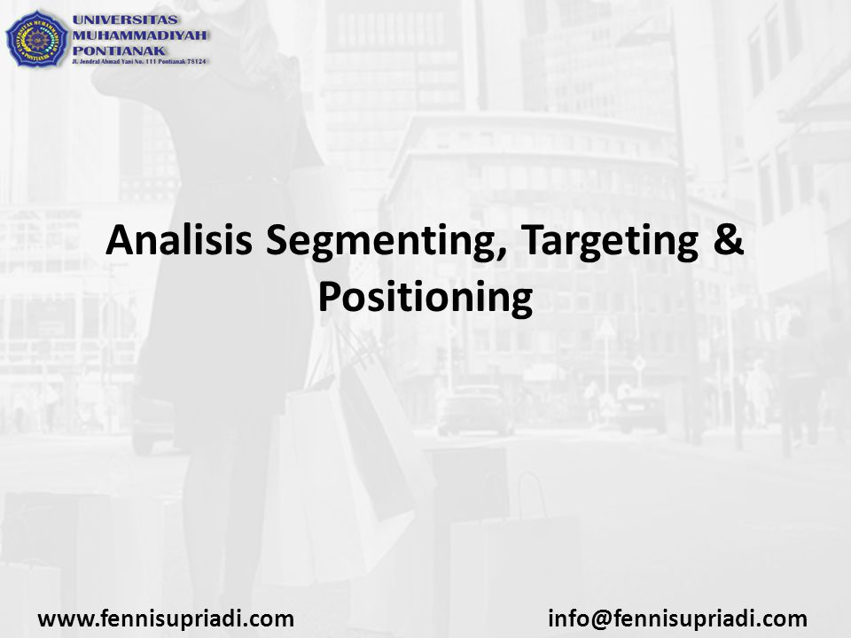 Analisis Segmenting, Targeting & Positioning