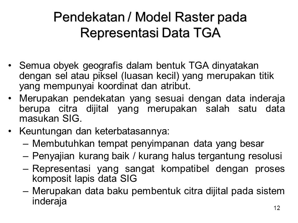 Pendekatan / Model Raster pada Representasi Data TGA