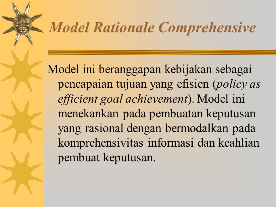 Model Rationale Comprehensive