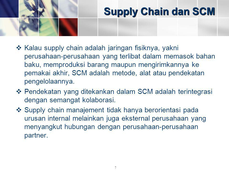 Supply Chain dan SCM