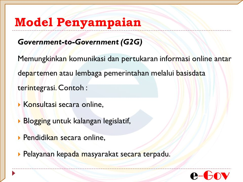 Model Penyampaian Government-to-Government (G2G)