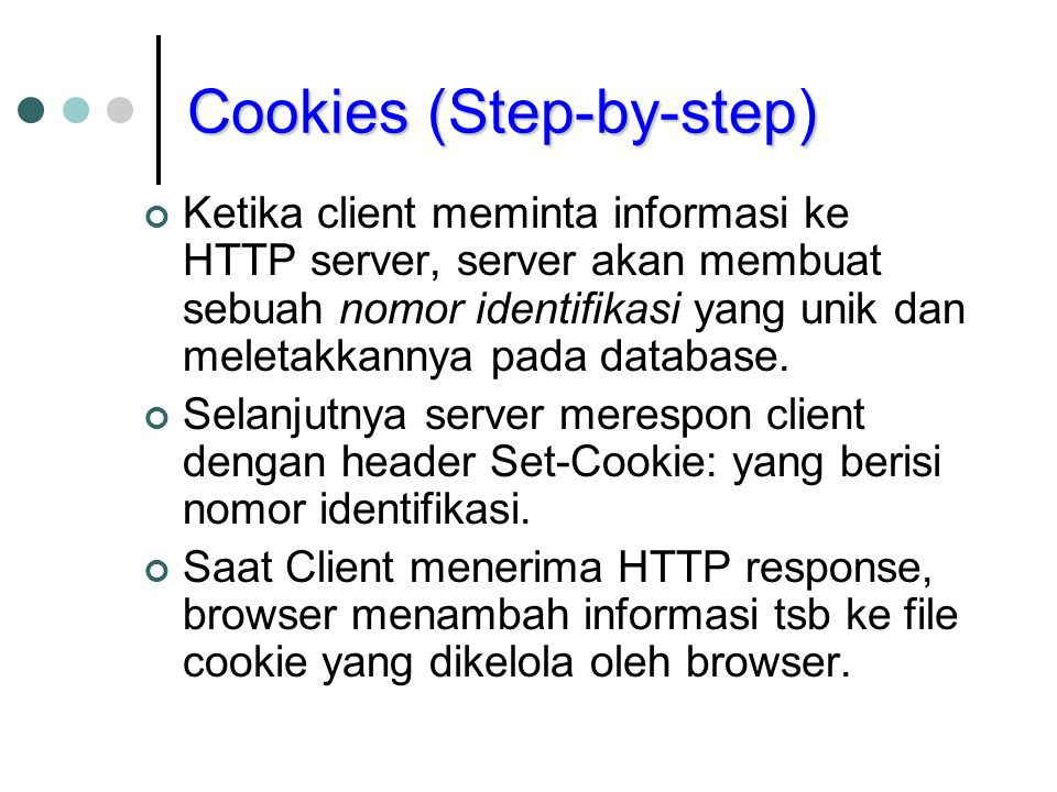 Cookies (Step-by-step)