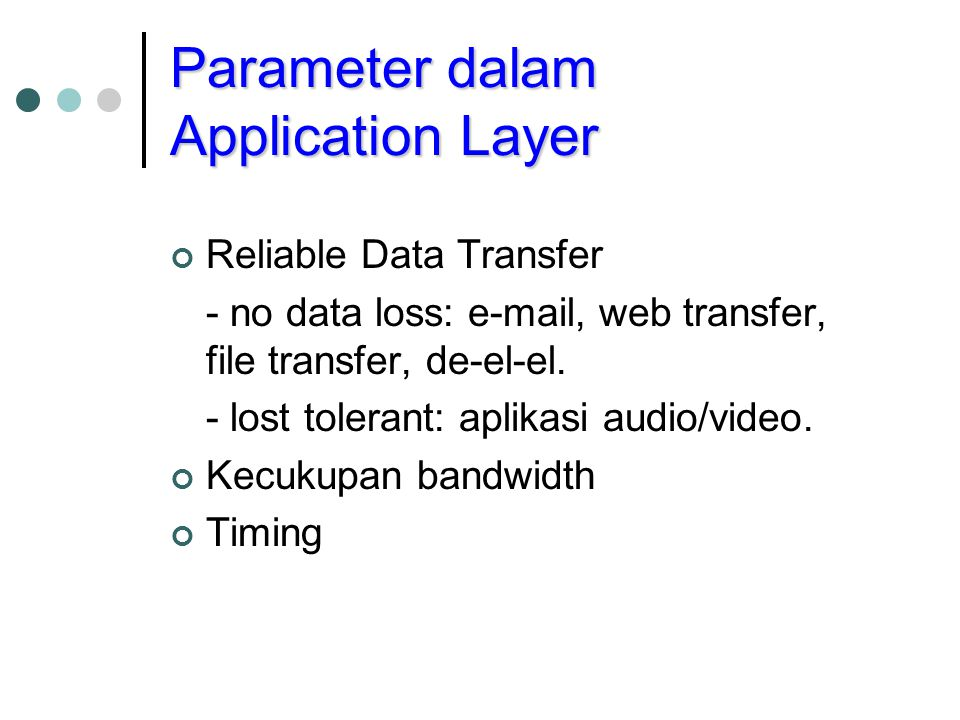 Parameter dalam Application Layer