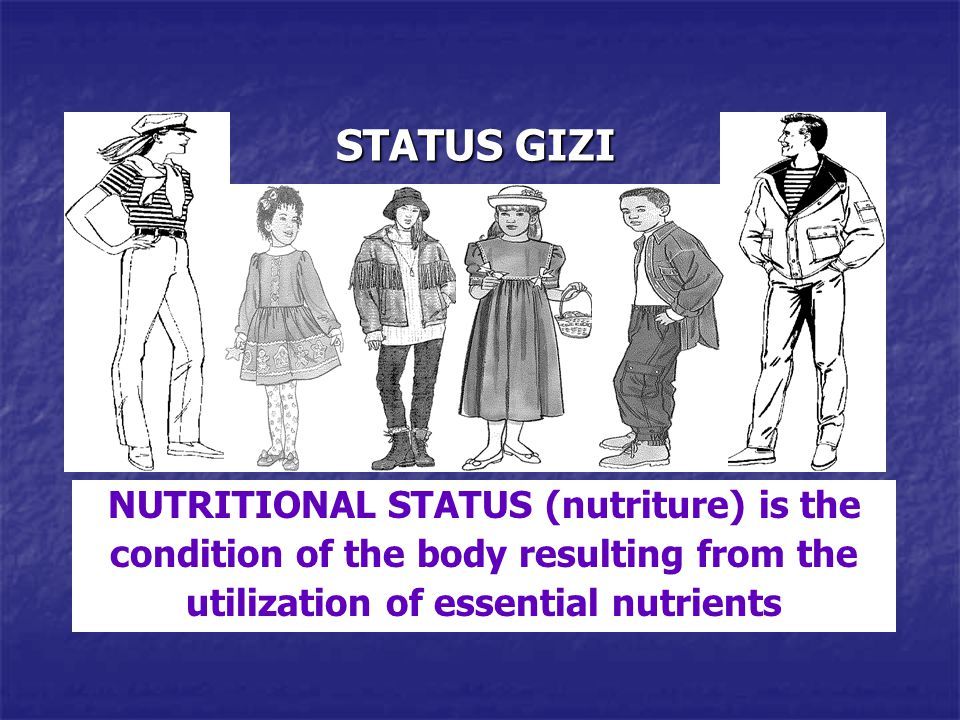 STATUS GIZI NUTRITIONAL STATUS (nutriture) is the