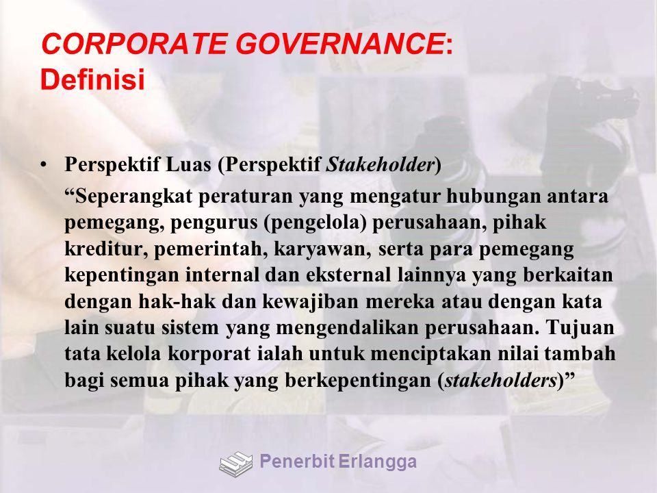 CORPORATE GOVERNANCE: Definisi