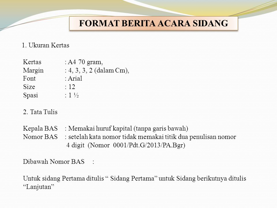 Format Berita Acara Sidang Ppt Download