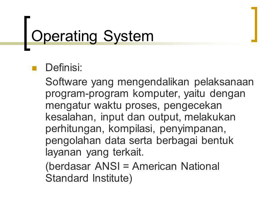 Operating System Definisi: