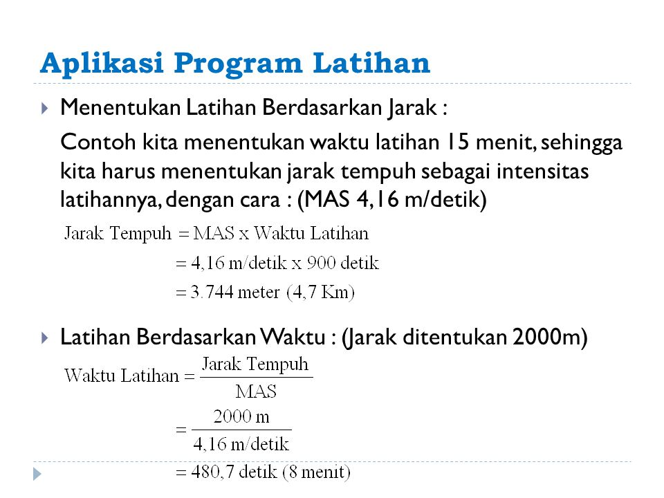 Aplikasi Program Latihan