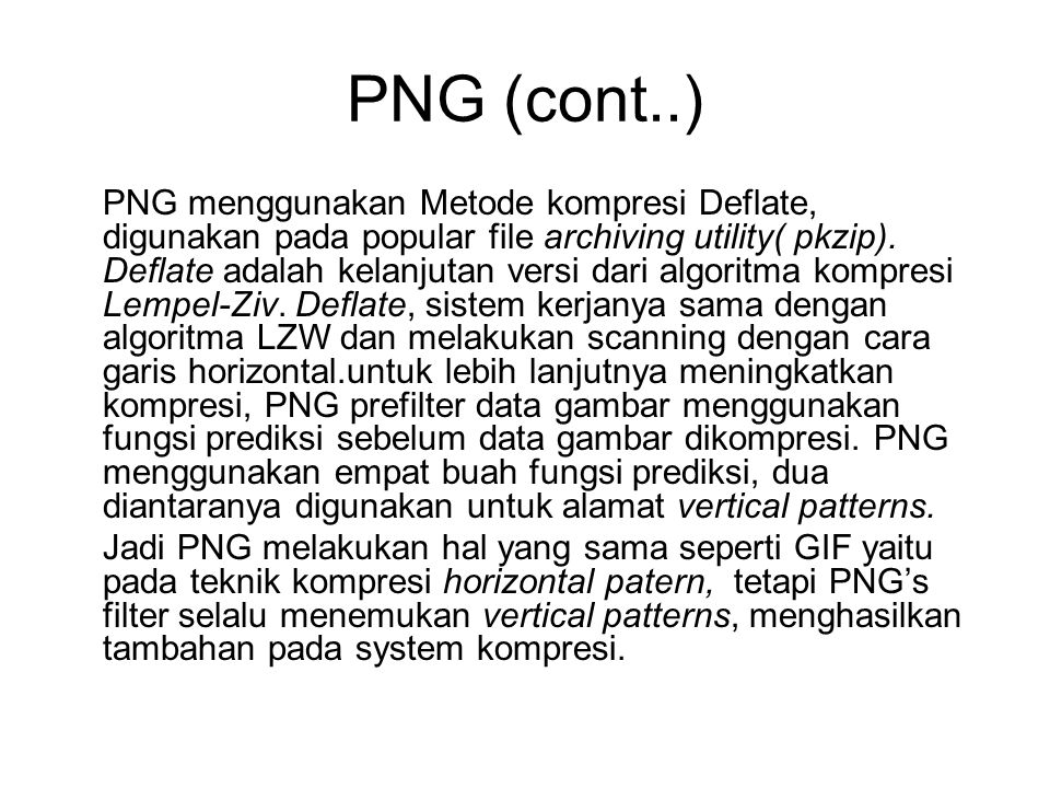 PNG (cont..)