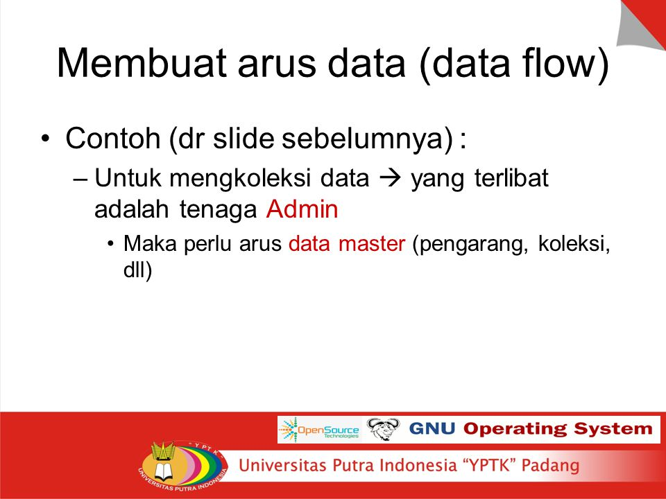 Membuat arus data (data flow)