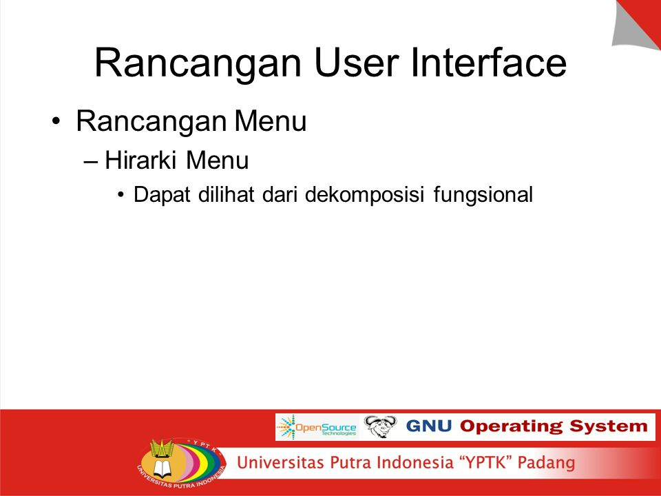 Rancangan User Interface
