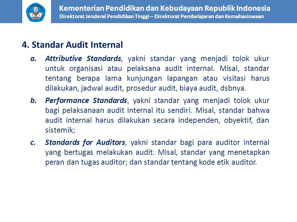 4. Standar Audit Internal