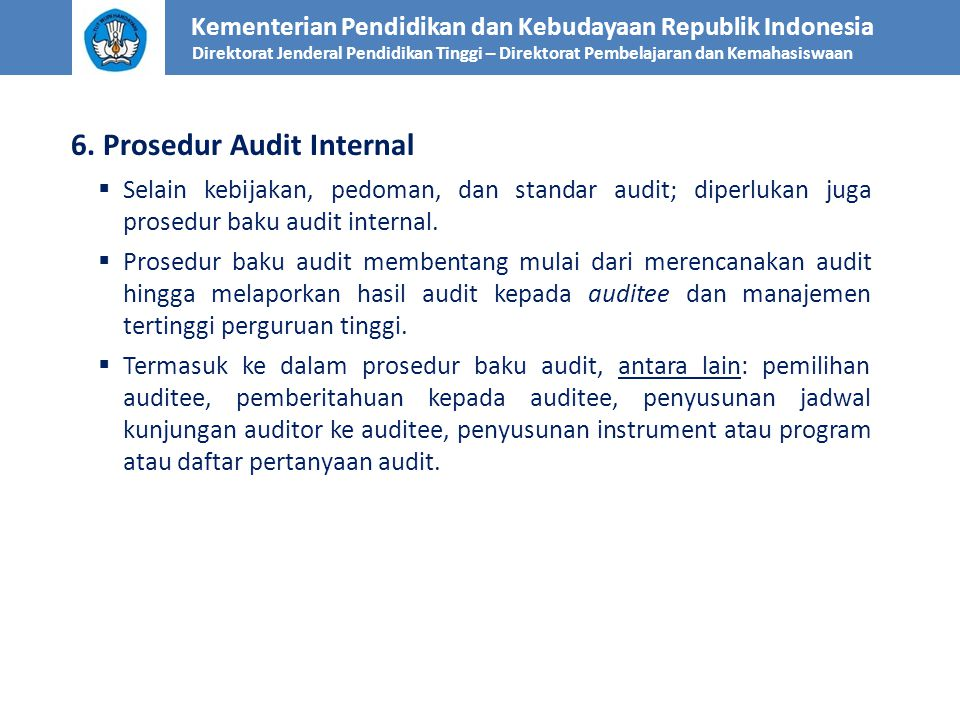 6. Prosedur Audit Internal