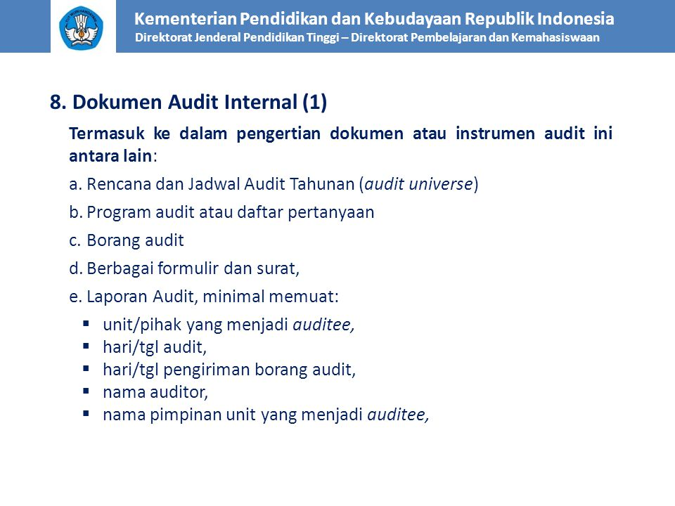 8. Dokumen Audit Internal (1)