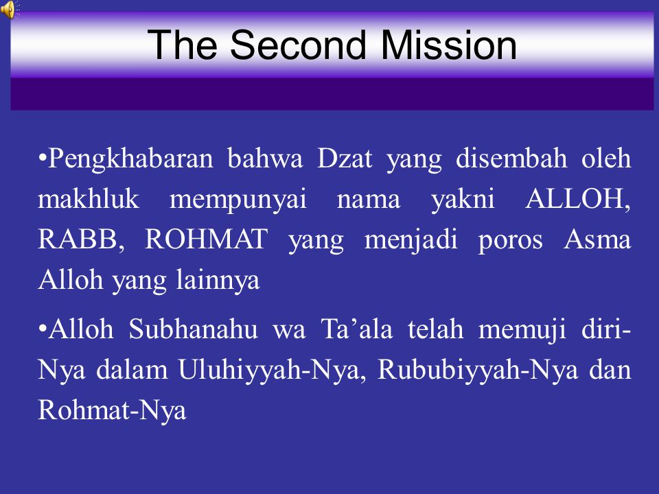 The Second Mission