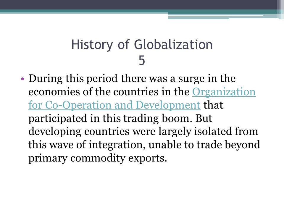 History of Globalization 5
