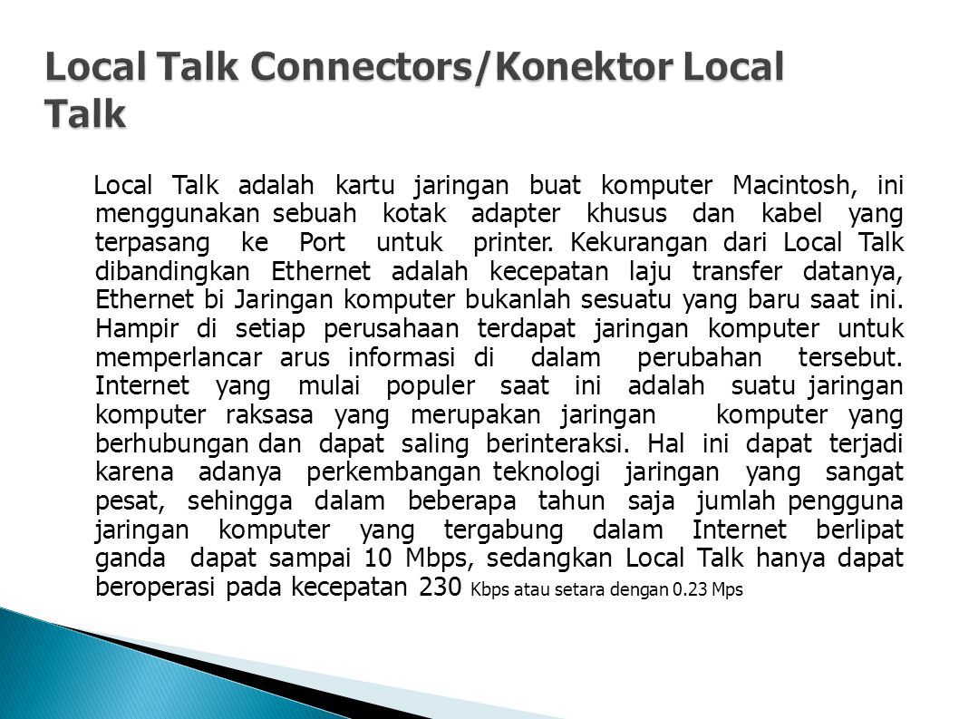Local Talk Connectors/Konektor Local Talk