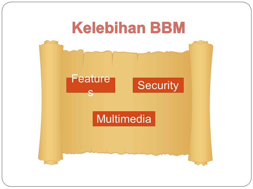 Kelebihan BBM Features Security Multimedia