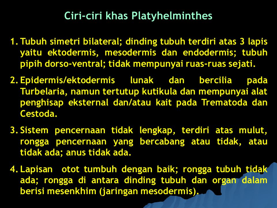 Ciri-ciri khas Platyhelminthes