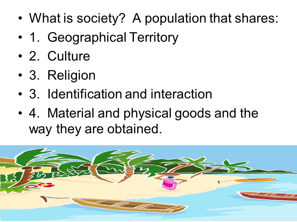 What is society A population that shares: