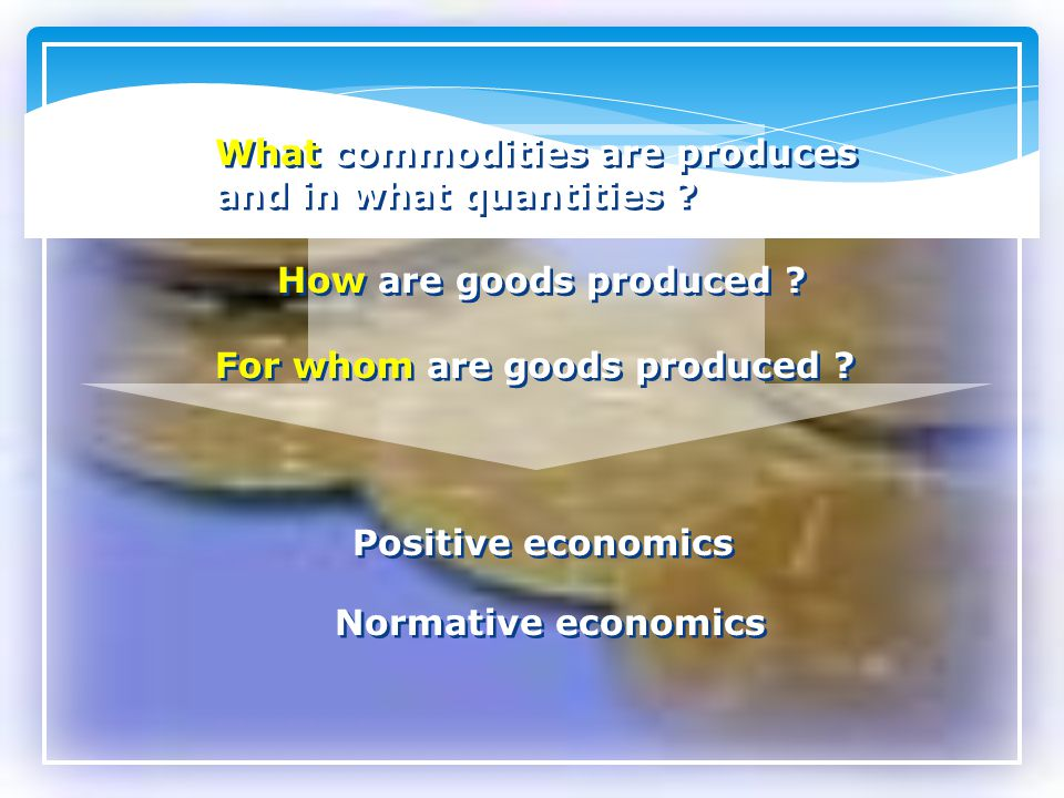 What commodities are produces and in what quantities