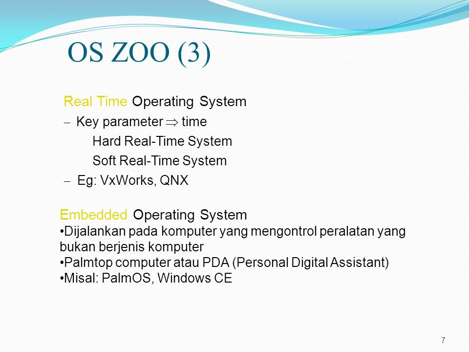 OS ZOO (3) Real Time Operating System Embedded Operating System