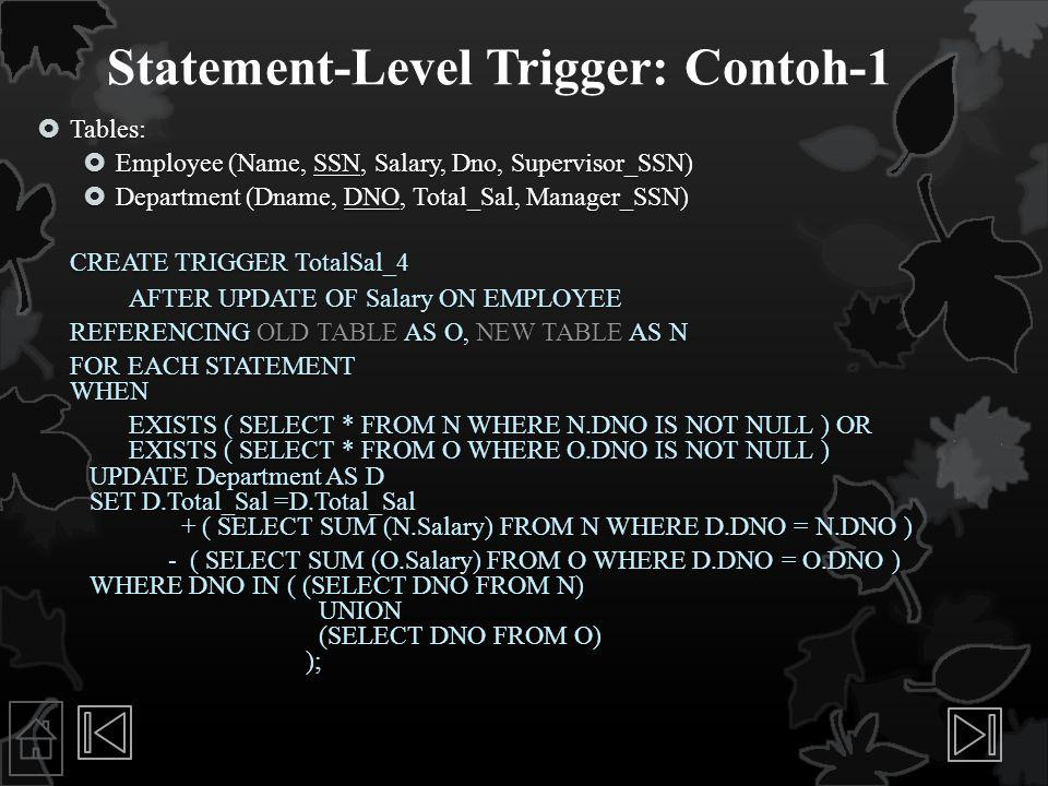 Statement-Level Trigger: Contoh-1