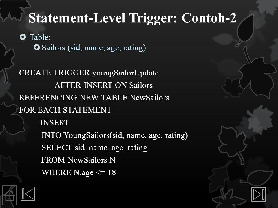 Statement-Level Trigger: Contoh-2