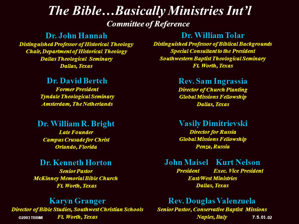 The Bible…Basically Ministries Int'l