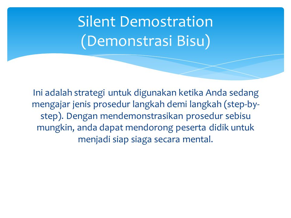 Silent Demostration (Demonstrasi Bisu)