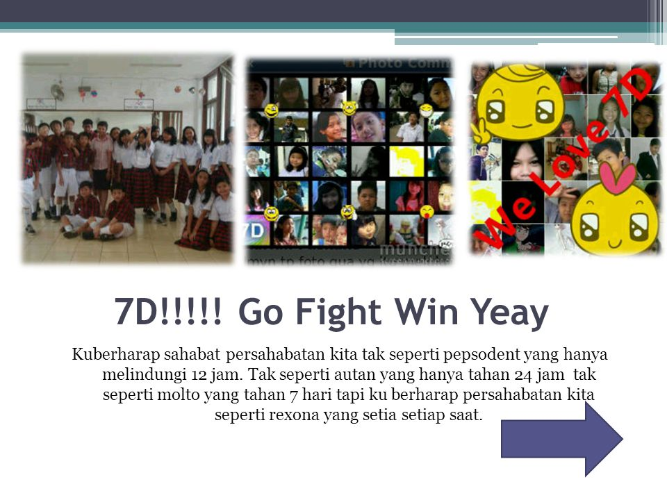 7D!!!!! Go Fight Win Yeay
