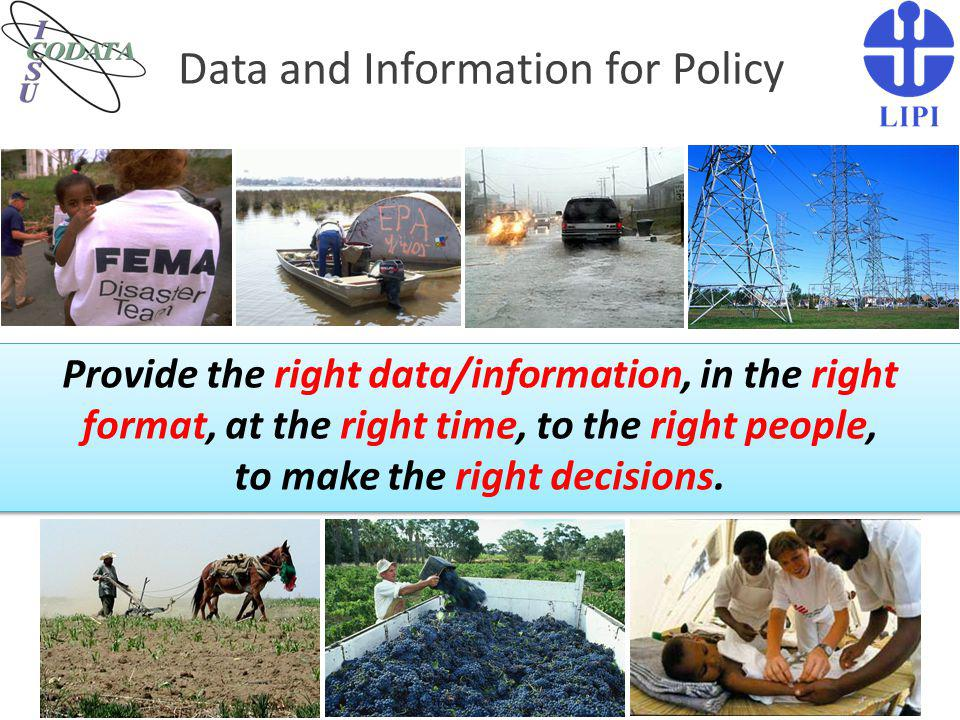 Data and Information for Policy