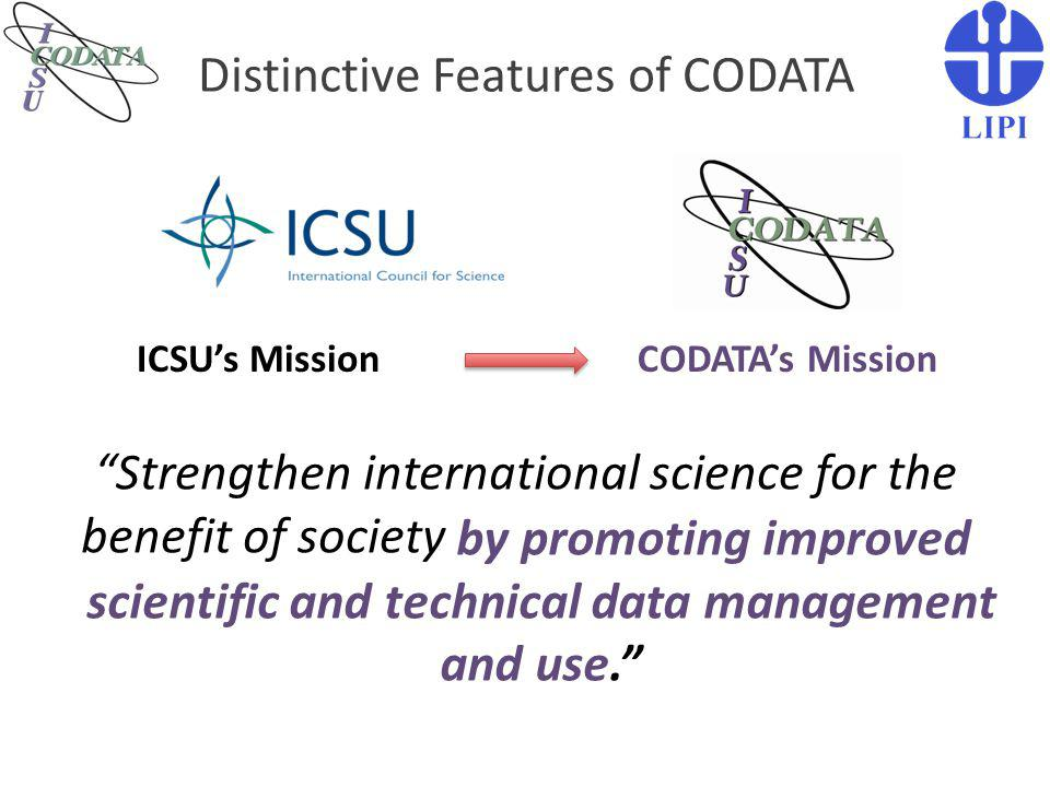 Distinctive Features of CODATA