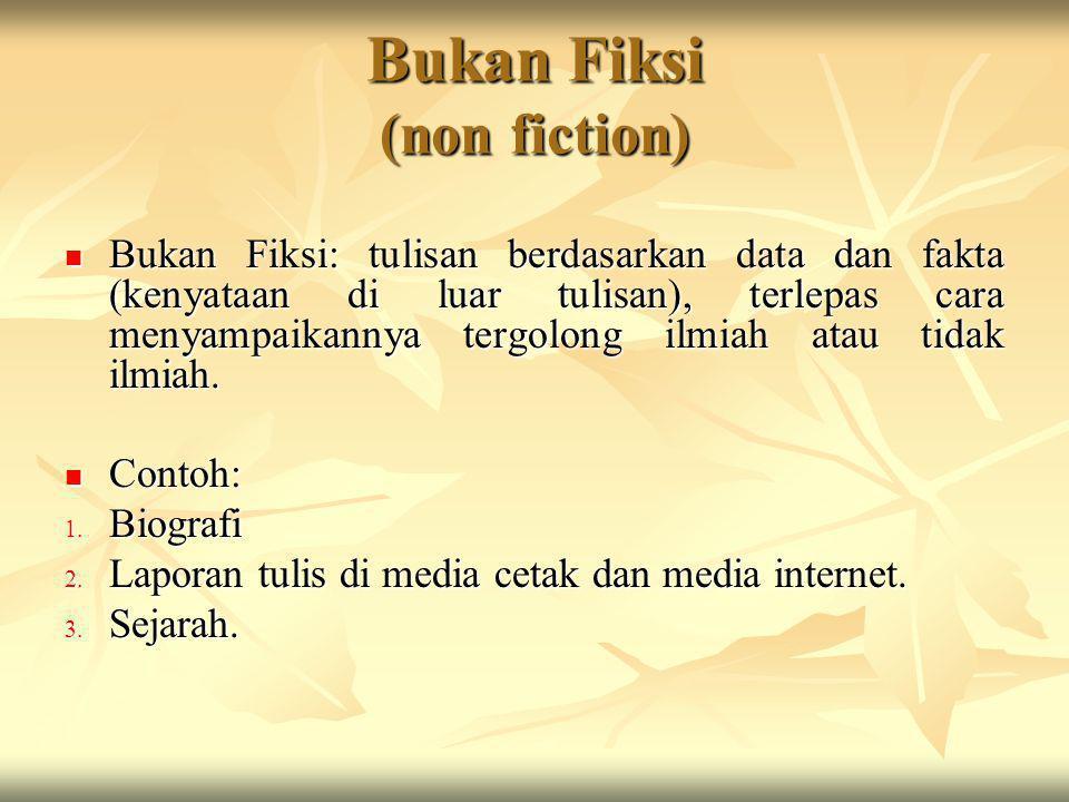 Ragam Bahasa Karya Tulis Bukan Fiksi Dan Fiksi Pertemuan 2 Ppt