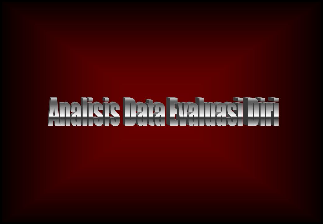Analisis Data Evaluasi Diri