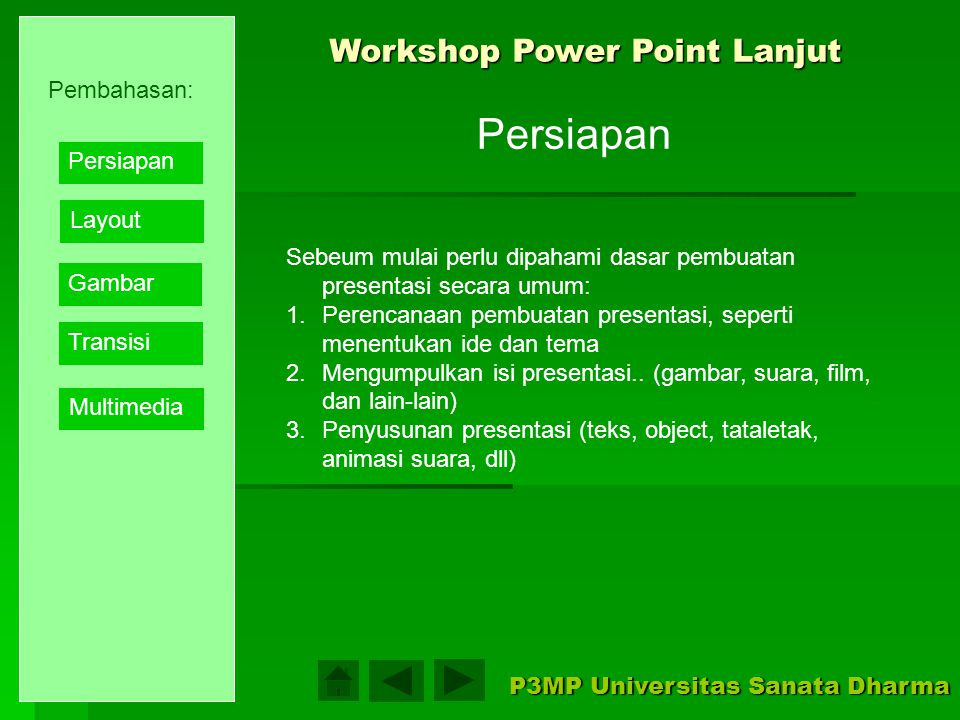 Workshop Power Point Lanjut