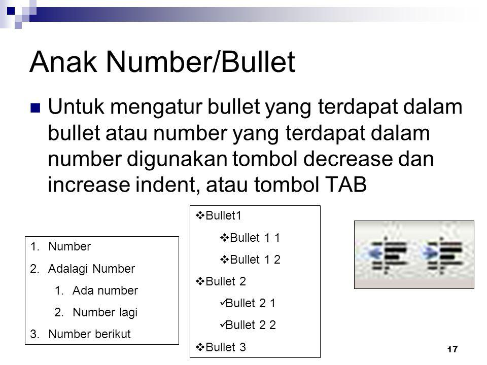 Anak Number/Bullet