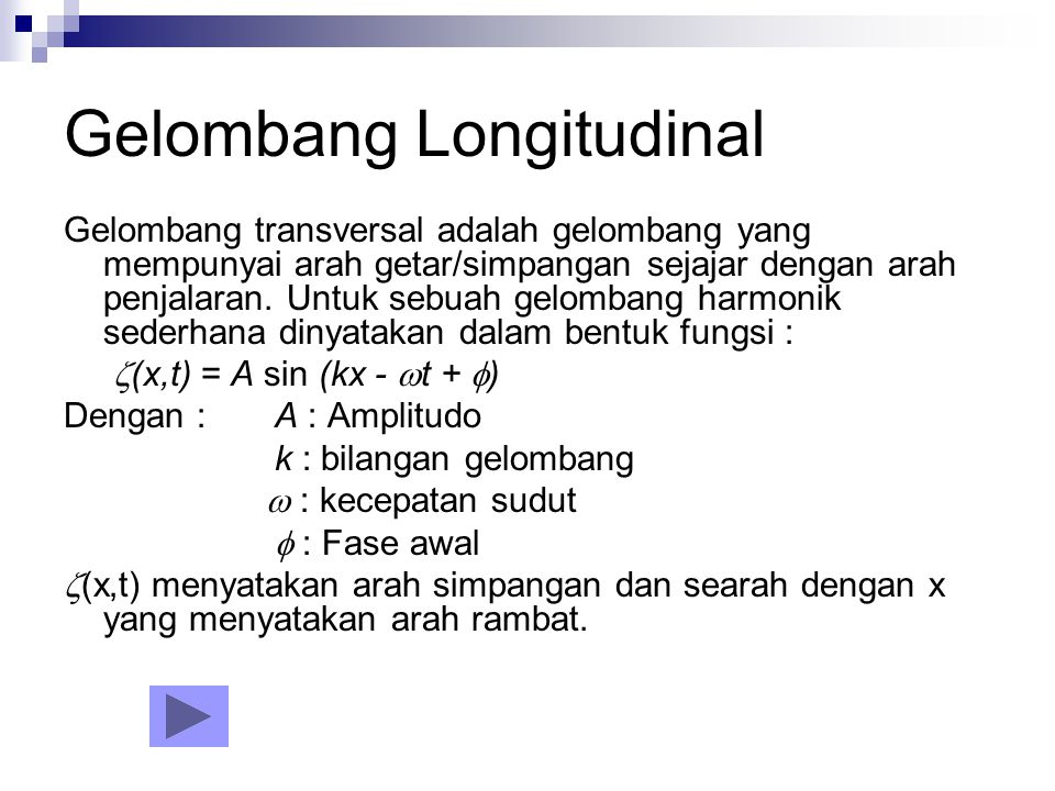 Gelombang Gelombang Transversal Gelombang Longitudinal Ppt Download