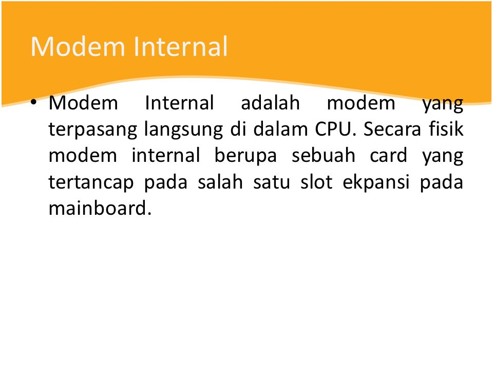 Modem Internal