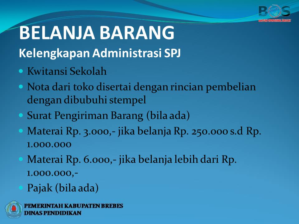 Tim Manajemen Bos Kabupaten Brebes Tahun Ppt Download