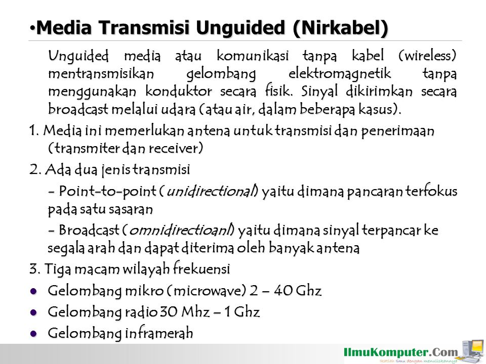 Media Transmisi Unguided (Nirkabel)