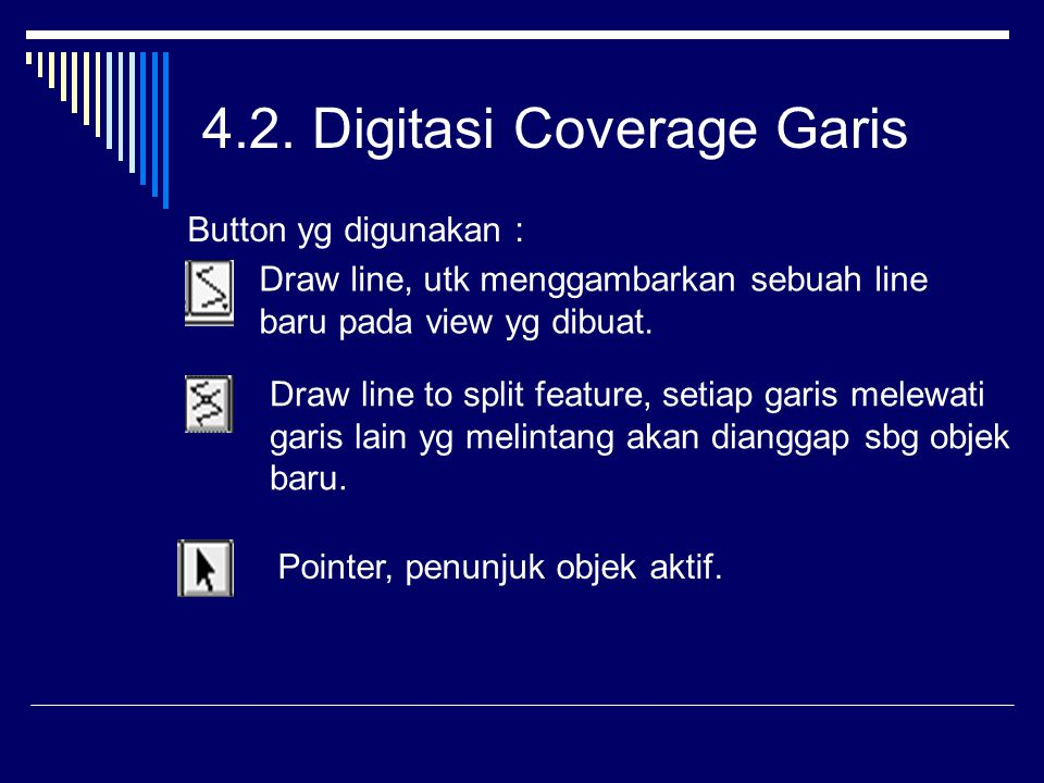 4.2. Digitasi Coverage Garis