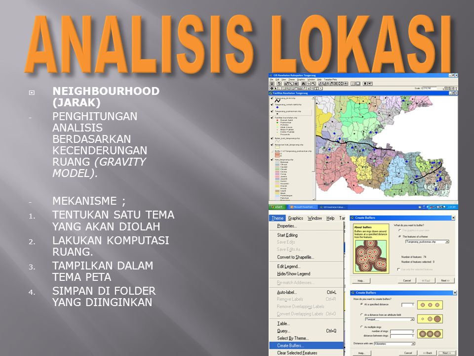 ANALISIS LOKASI NEIGHBOURHOOD (JARAK)
