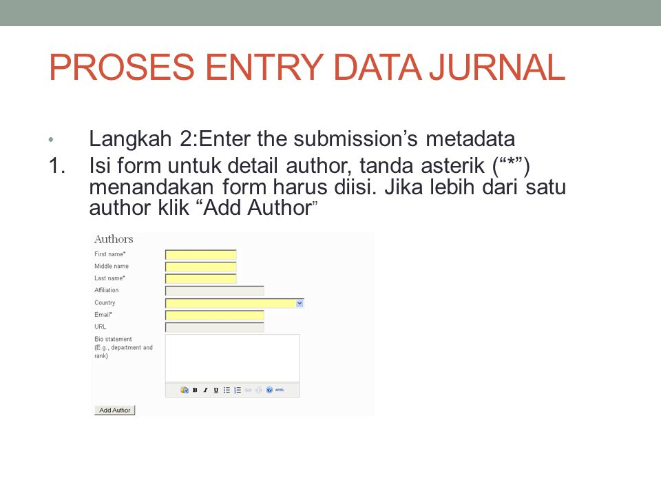 PROSES ENTRY DATA JURNAL