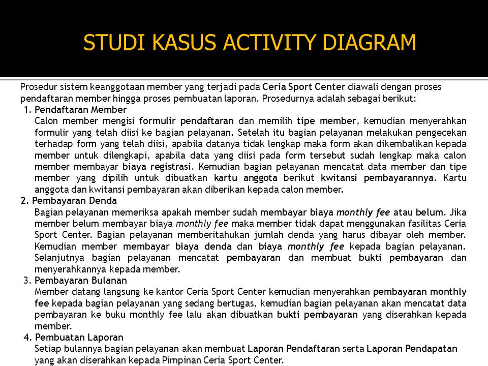 STUDI KASUS ACTIVITY DIAGRAM