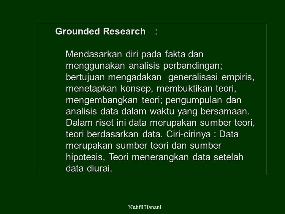 Grounded Research :